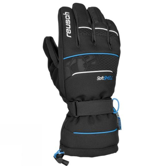 Reusch Men's Connor XT Glove Black/Brilliant Blue