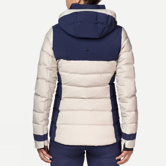 KJUS Women's Snowscape Down Jacket String Melange/Atlanta Blue