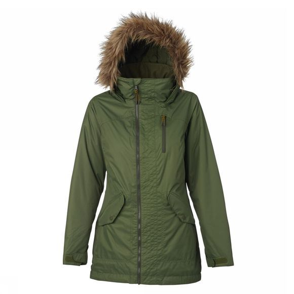 Burton Women's Hazel Faux Fur Parka Snow Jacket RIFLE GREEN