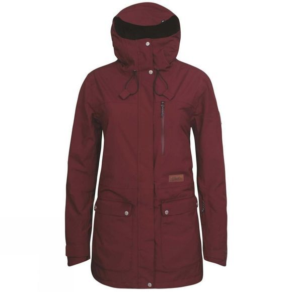Planks Women's Good Times 2 Layer Jacket Maroon