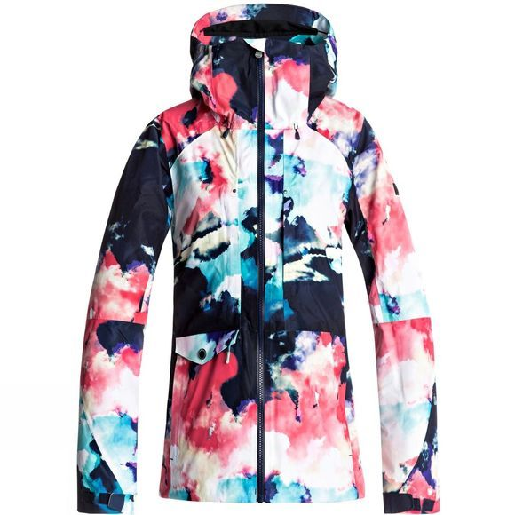 Roxy Womens Essence 2L Gore Tex Snow Jacket NEON GRAPEFRUIT CLOUD NINE PRINT