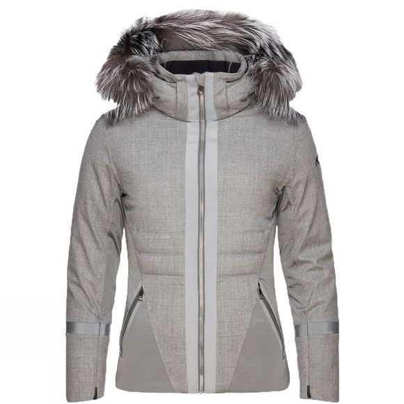 KJUS Womens Sella FurJacket Steel GreyMelange