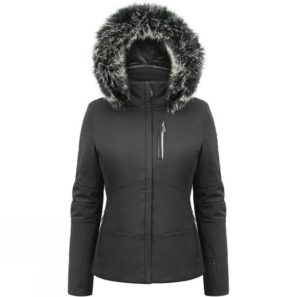 Poivre Blanc Womens Jennifer Faux Fur Jacket Black