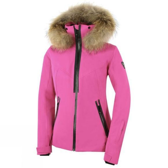 Degre 7 Womens Geod Faux Fur Jacket Ultra Pink