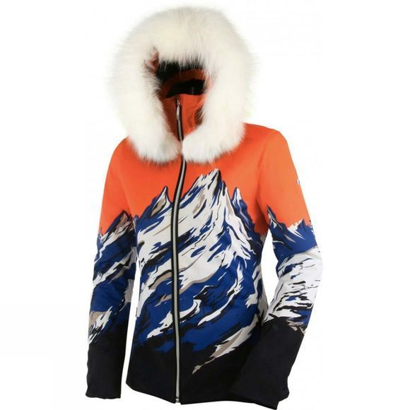 Henri Duvillard Womens Blanca Mountain Print Ski Jacket Multicolour