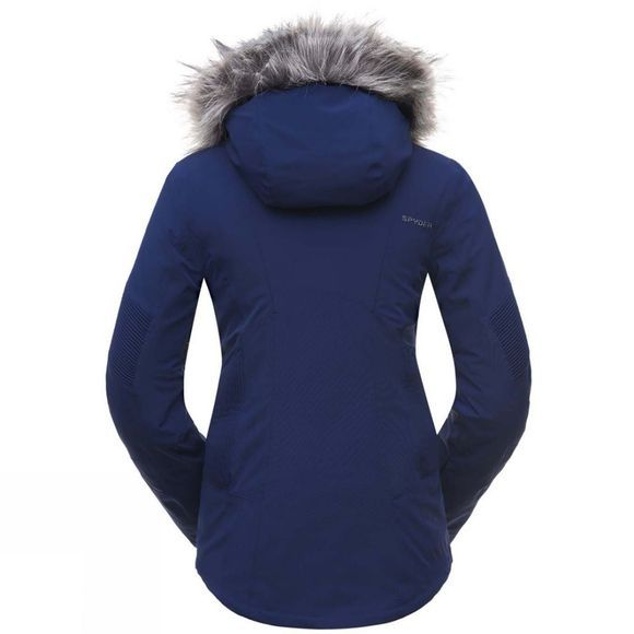 Spyder Womens Diabla Gore-Tex Faux Fur Jacket Depth Blue