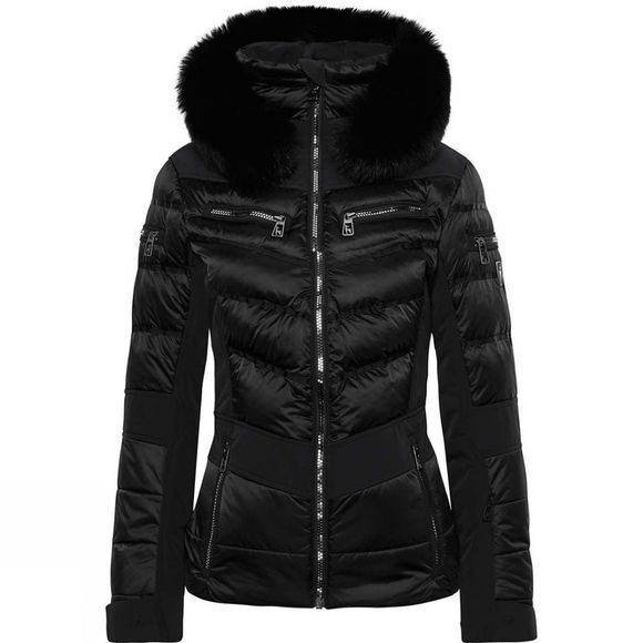 Toni Sailer Sports Womens Maria Fur Jacket Black