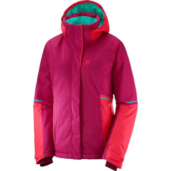 Salomon Womens Stormseason Jacket Cerise/Hibiscus