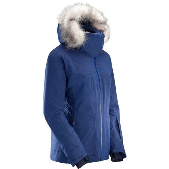 Salomon Womens Weekend+ Jacket Medieval Blue Heathe