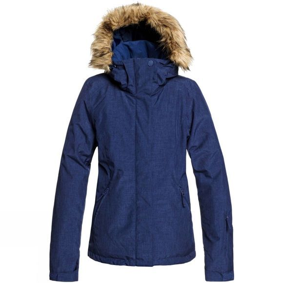 Roxy Womens Jet Ski Solid Jacket Medieval Blue