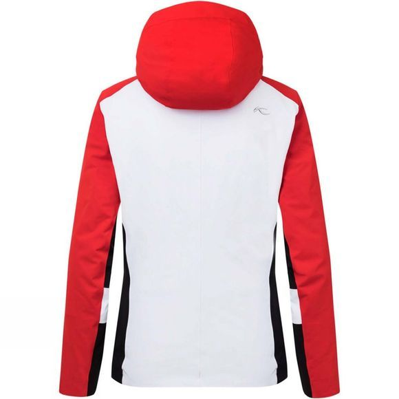 KJUS Womens Laina Jacket White/Fiery Red