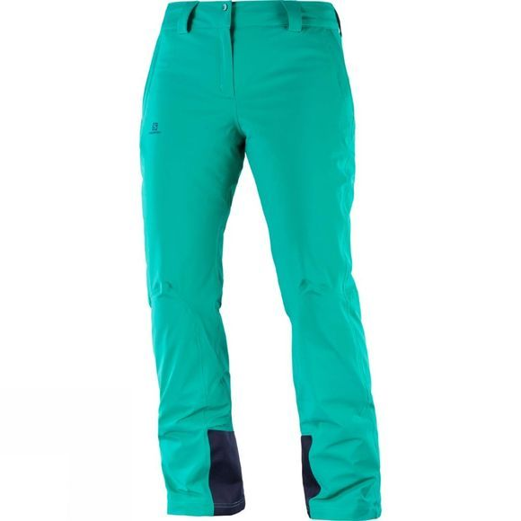Salomon Womens Icemania Snow Pants Waterfall