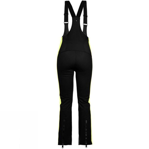 Goldbergh Womens Salopet Pant Black Soft Yellow Neon