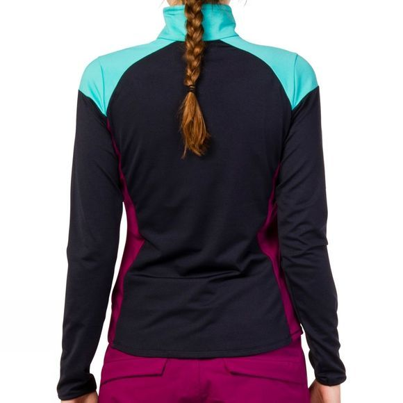 Protest Womens Togo 1/4 Zip Top Ground Blue