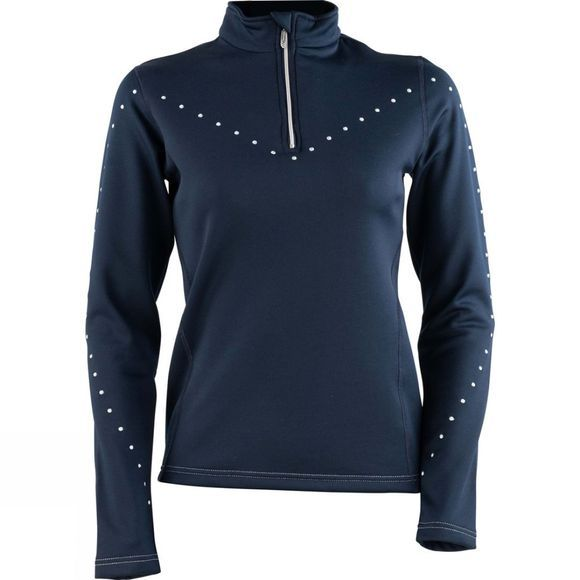 Henri Duvillard Womens Roseland 1/4 Zip Fleece Dark Navy