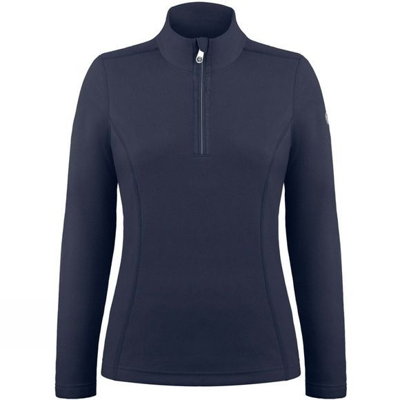 Poivre Blanc Womens Sacha Fleece 1/4 Zip Sweater Gothic Blue