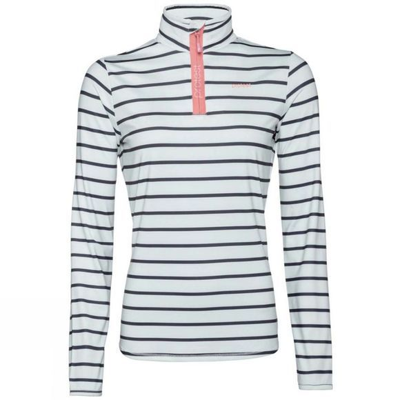 Protest Womens Tipsy Stripe 1/4 Zip Top Grunge