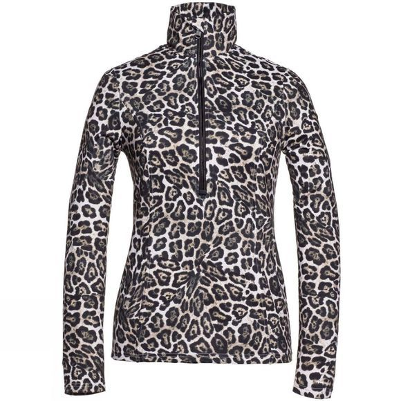 Goldbergh Womens Lilja 1/2 Zip Sweater Leopard