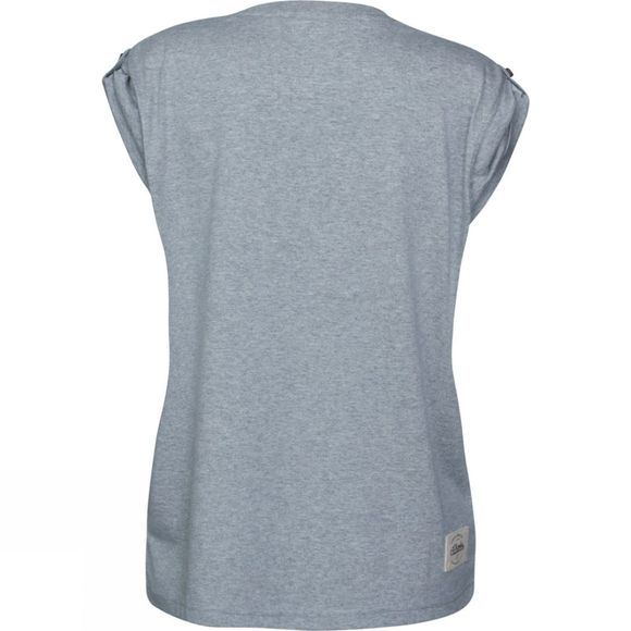 Planks Womens Drop Cliffs Boyfriend Tee Sports Grey