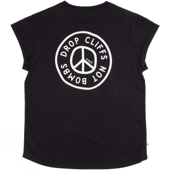 Planks Women's Peace Relaxed Pocket T-Shirt Black