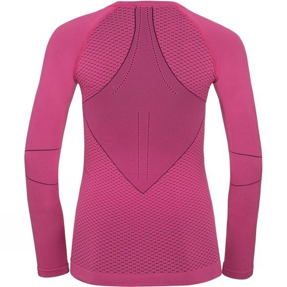 Odlo Womens Evolution Warm Long Sleeve Crew Neck Magenta - Plum Purple