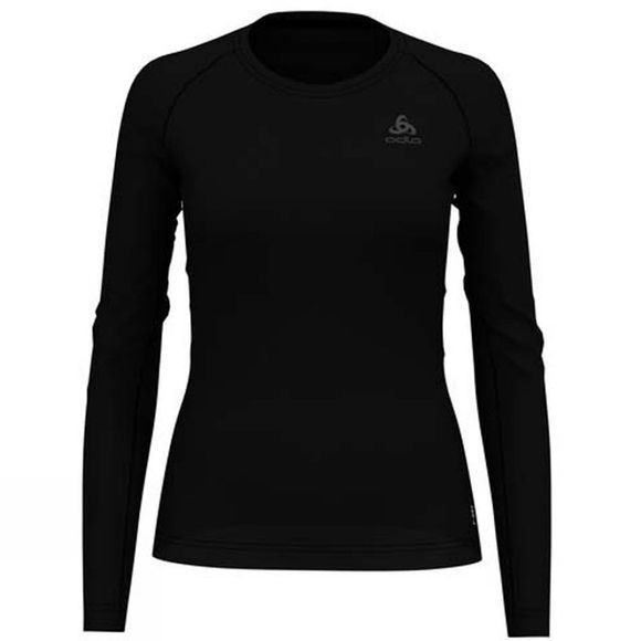 Odlo Womens Active F-Dry Light Long Sleeve Crew Black