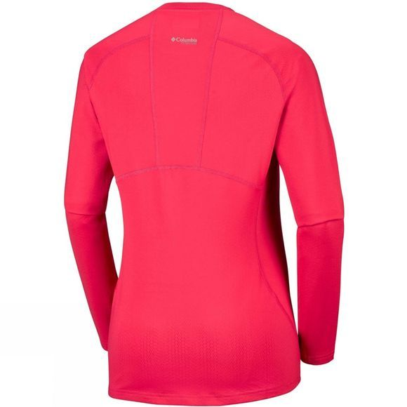 Columbia Womens Omni-Heat 3D Knit Crew Top Red Camellia