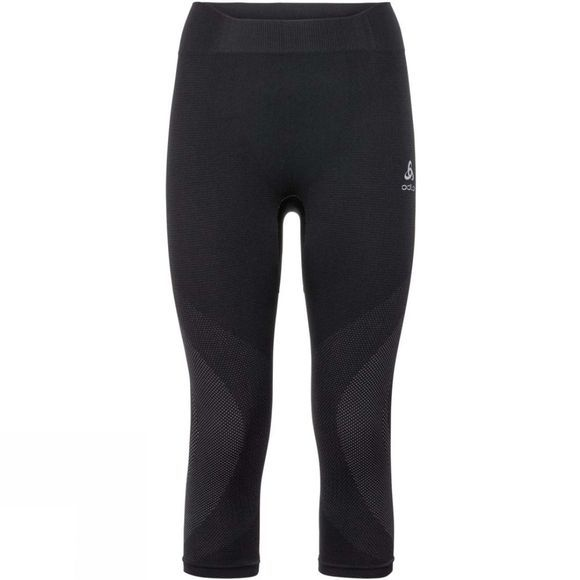 Odlo Womens Performance Warm 3/4 Pant Black/ Odlo Concrete Grey
