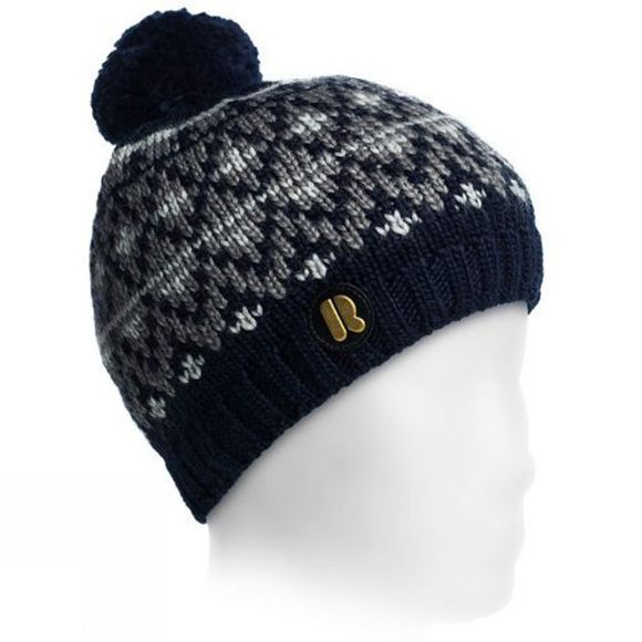 Riggler Women's Wuebbolt Beanie  Dark Blue/ Grey