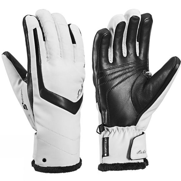 Leki Womens Stella S Glove White/Black