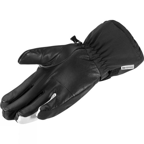 Salomon Womens Propellor Long Gloves Black/ White