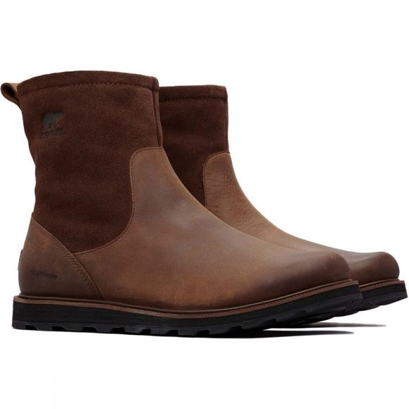 Sorel Mens Madson Zip Waterproof Boot Tobacco