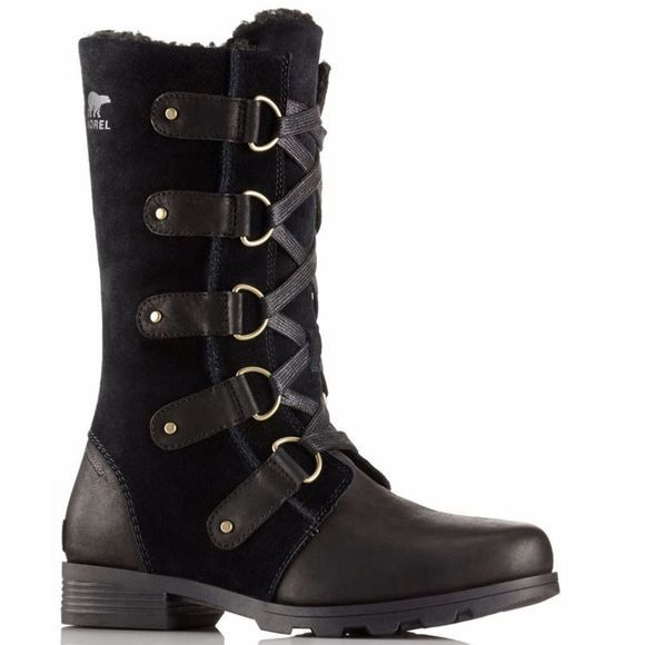 Sorel Womens Emelie Lace Black