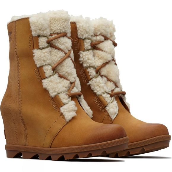 Sorel Womens Joan Of Arctic Wedge Shearling II Boot Camel Brown