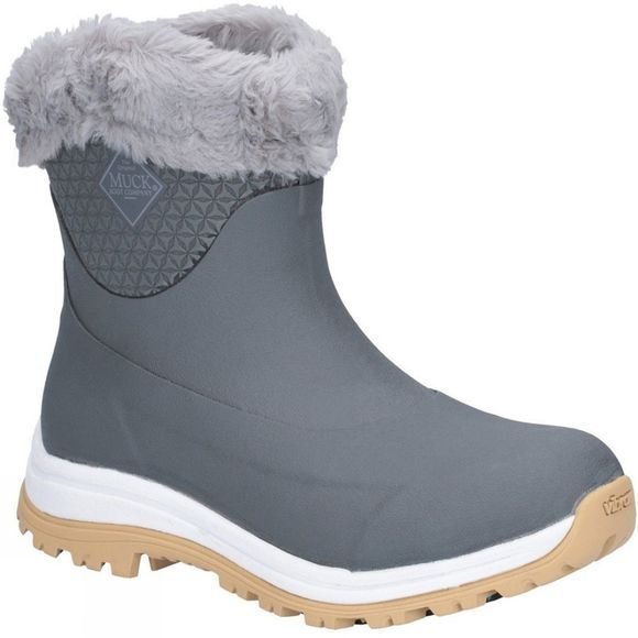 Muck Boot Womens Apres Slip On Boot Grey