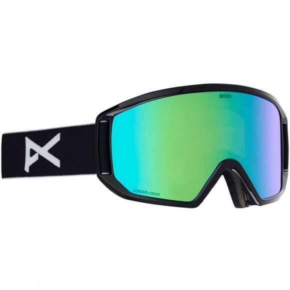 Anon Mens Relapse Goggle Black Green/ Sonar Green and Amber