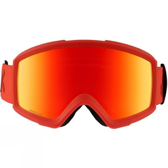 Anon Mens Helix 2.0 Sonar Goggle (Spare Lens Included) Red/ Sonar Red and Amber