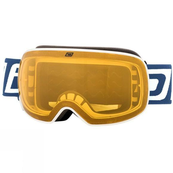 Dirty Dog Mens Mutant 0.5 Goggles White/ Blue Mirror and Yellow Multi