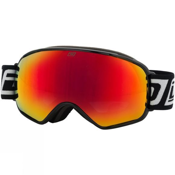 Dirty Dog Mens Mutant 2.0 Goggle Black/ Red Mirror and Amber Multi