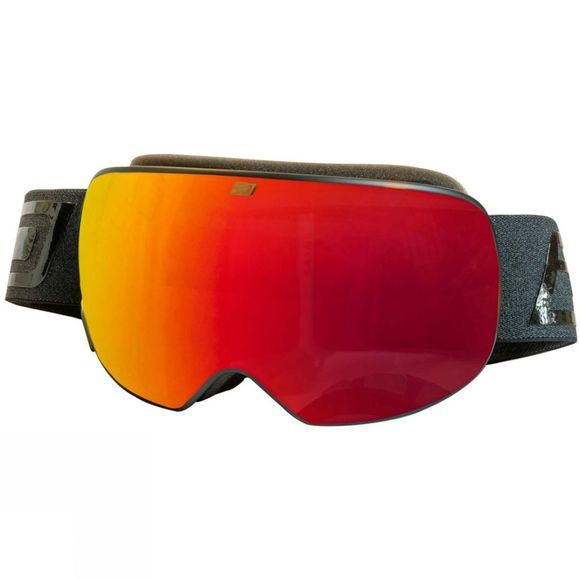 Dirty Dog Mens Mutant Prophecy Goggle Red Matte Black / Red Fusion Mirror & Yellow Multi