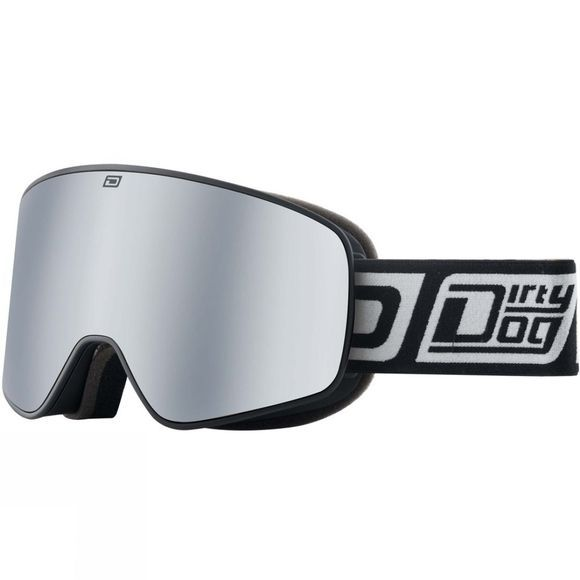 Dirty Dog Mens Mutant Legacy Goggle Silver Matte Black / Silver Mirror & Yellow Multi