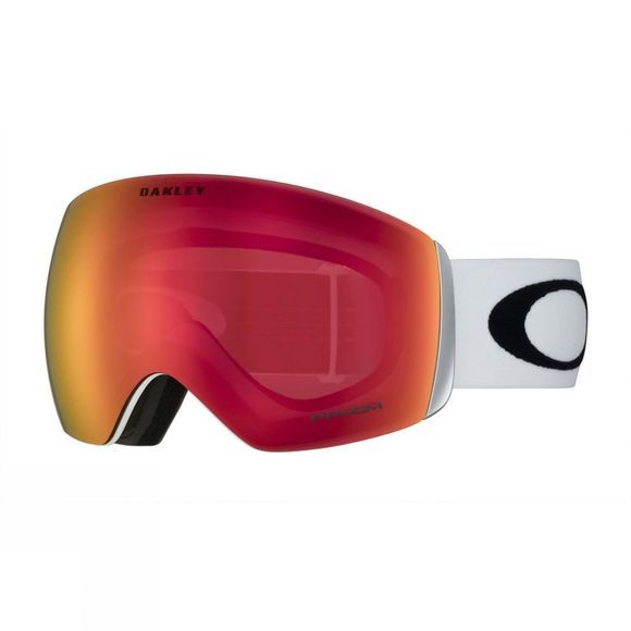 Oakley Men's Flight Deck Goggle Matt White/PRIZM Torch Iridium