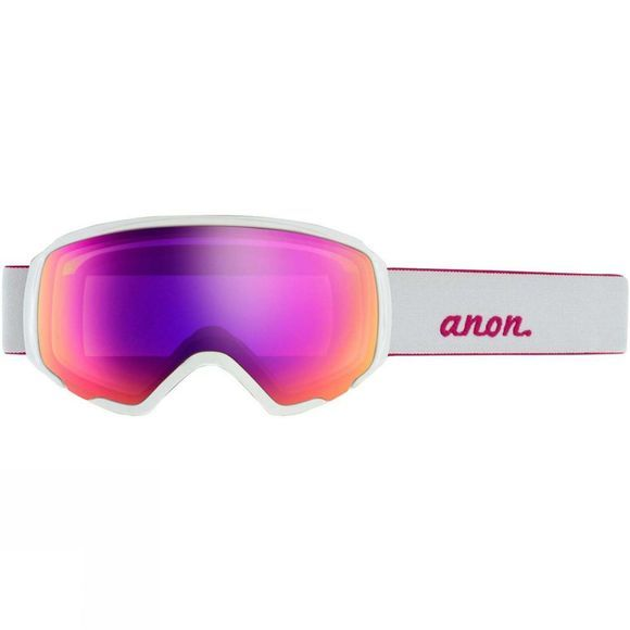 Anon Womens WM1 Goggle + Spare Lens Pearl White / Sonar Pink & Sonar InfraRed