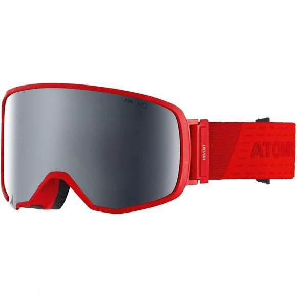 Atomic Revent L FDL HD Goggle Red/ Silver Stereo HD