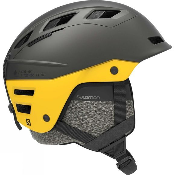 Salomon QST Charge Snow Helmet GREY / LEMON CHROME