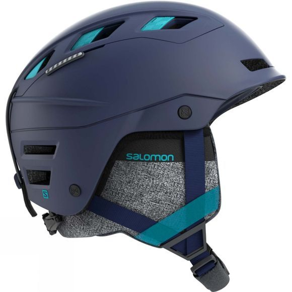 Salomon Womens QST Charge Helmet Wisteria Navy/ Blue Bird