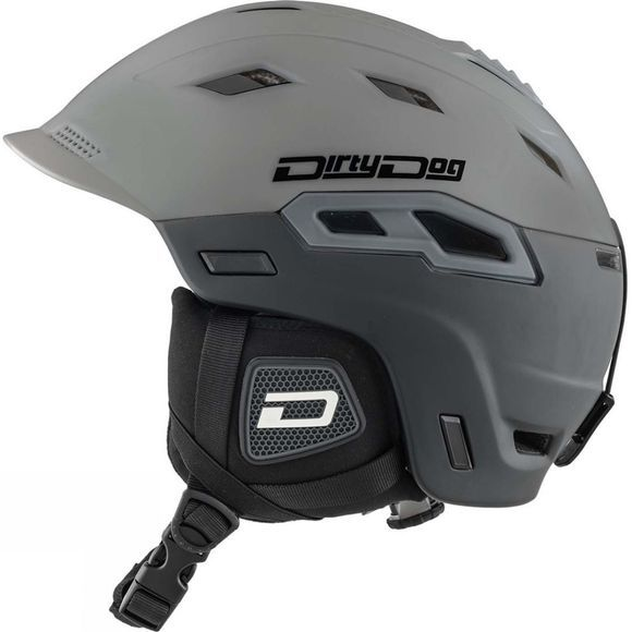 Dirty Dog Crater Helmet Gloss Grey / Matte Black