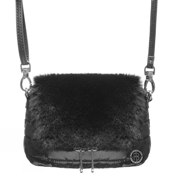 Poivre Blanc Women's Imogen Faux Fur Belt Bag Bubbly black