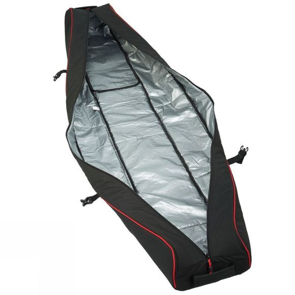 Snow and Rock Cargo Ski Wheelie Bag Black / Red