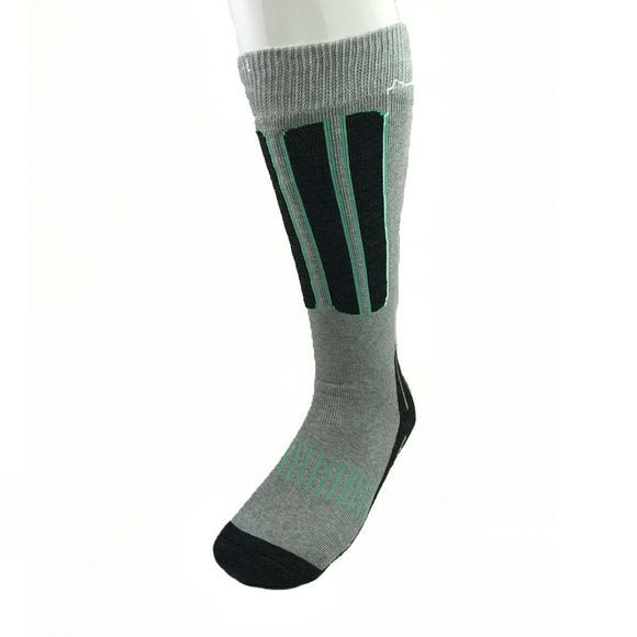 Snow and Rock Womens Comfort Zone - 2 Pack Socks Black/Grey/Pink and Grey/Black/Aqua